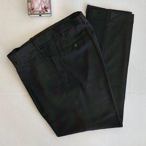 GS Men's Cuffed Dress Pants Black  EUC 42W x 34L